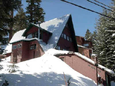 A photo of the Guest House in winter.